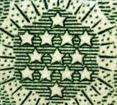 Dollar USA, stars. Extreme closeup.Macro — Stock Photo