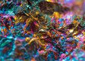 Crystal,nugget, gold, bronze, copper, iron. Macro. Extreme close — Zdjęcie stockowe