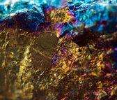 Crystal,nugget, gold, bronze, copper, iron. Macro. Extreme close — Stockfoto