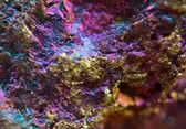 Samorodek złota, brązu, miedzi, żelaza. makro. skrajny zbliżenie — Zdjęcie stockowe