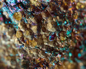 Bronze, copper, iron. Macro. Extreme closeup — Foto de Stock
