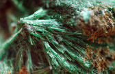 Malachite with the formula Cu2CO3(OH)2 is copper carbonate hydr — Stock Photo