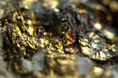 Golden metal background. Macro — Stock Photo