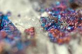 Metallic crystal nugget. Macro — Photo