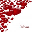 Vector background with hearts — Stock Vector #36793533