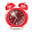 Red alarm clock.Vector — Stock Vector #36793507