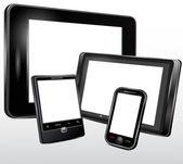Electronic technics, tablet, mobile phone. Vector — Wektor stockowy