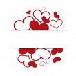 Hearts on a white background, concept love, Valentine's day — Stock Vector