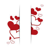 Hearts on a white background, concept love. Vector — Stock Vector