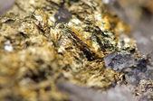 Fantastické zázemí, magický kámen, zlata kovu (velké Sb — Stock fotografie
