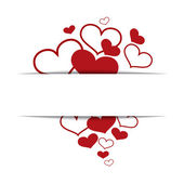 Hearts on a white background, concept love, Valentine's day. — Stock Vector