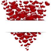 Herzen, Konzept Liebe, happy Valentinstag. Vektor — Stockvektor