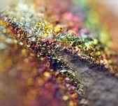 Fantastic background, magic of a stone, rainbow in metal rock (b — Stock Photo