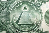 1 Dollar USA, pyramid,  for a background . Macro  — Stock Photo