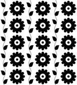 Seamless pattern black-and-white for background. Vector — Vector de stock
