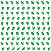 Seamless  pattern the green leaves for background. Vector — Vecteur