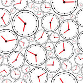 Seamless the clock pattern for background. Vector — Stock Vector