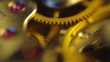 Clockwork of a chronograph. Extreme closeup. Macro — Vídeo de Stock