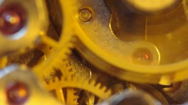 计时的钟表机构。极端的特写。宏 — 图库视频影像