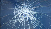 Accident, the broken glass of the car  — Stock Photo