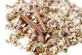 Healthy breakfast.handmade oatmeal — Stock Photo