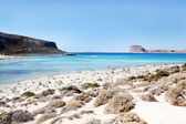 Balos bay. Lagoons, beaches of pure white sand.Crete in Greece — Stock Photo