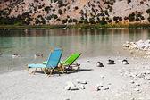 Crete's only freshwater lake, Lake Kournas — Stock Photo