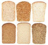 Set bread slice — Stock Photo