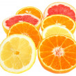 Royalty-Free Stock Photo: Sliced orange, lemon, tangerine and grapefruit