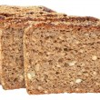 Sliced wheat bread isolated. — Stock Photo