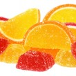 Handful of orange and yellow candy — Stock Photo #19985293