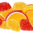 Stack of orange and yellow candy — Stock Photo