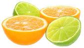 Orange and lemon. — Stock Photo