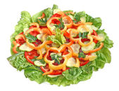 Salad from fresh vegetables top view — Stock Photo