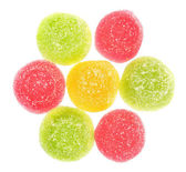 Candy heap top view — Stock Photo