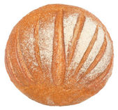Bread top view isolated — Stock Photo