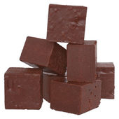 Cubes of chocolate — Stockfoto