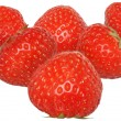 Ripe strawberry group close up — Stok fotoğraf