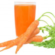 Glass of carrot juice — Stock Photo