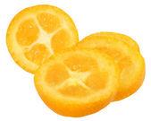 Sliced kumquat close up — Стоковое фото