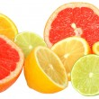Cut heap lime, grapefruit, lemon and orange — Stock Photo #41084931