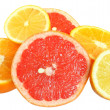 Cut heap grapefruit, lemon and orange — Stock Photo #41084943