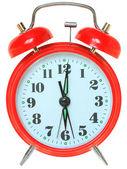 Despertador rojo aislado — Foto de Stock