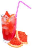用片葡萄柚和葡萄柚汁鸡尾酒 — 图库照片
