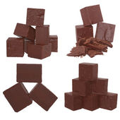Cubes of chocolate — Stock Photo