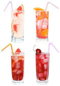 Set of four cocktails — Foto de Stock