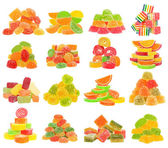 Candy set isolated — Stock Photo