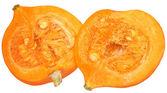 Ripe pumpkin cut in half — Stock Photo