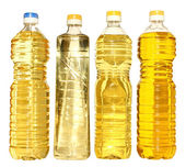 Set bottle of vegetable oil — Stock Photo