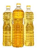 Set bottle of vegetable oil — Stockfoto